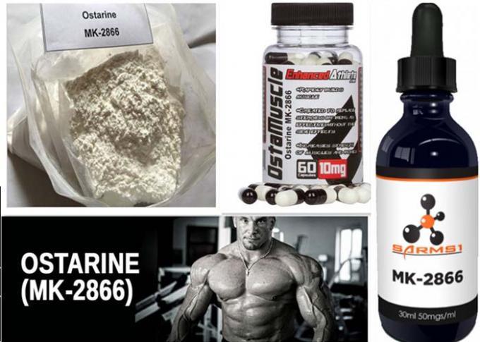 Ostarine MK-2866 SARMs Raw Powder CAS 841205-47-8 For Gaining Lean