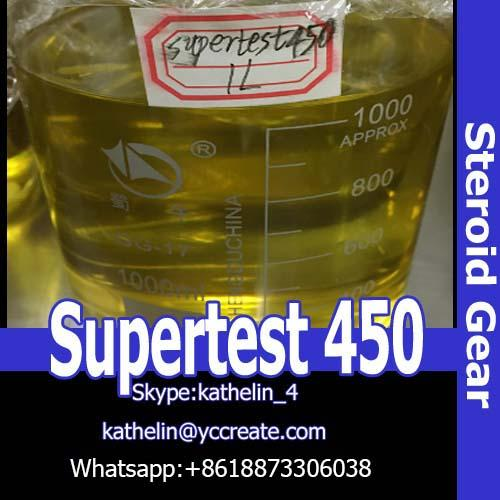 Injection Oil Based Steroids Liquid Supertest 450 Yellow Appearance For Muscle Building
