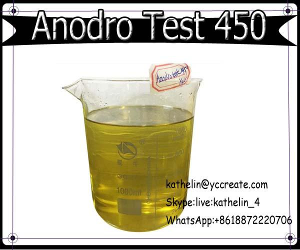 Pre Mixed Muscle Building Steroid Oil Anodro Test 450 Test