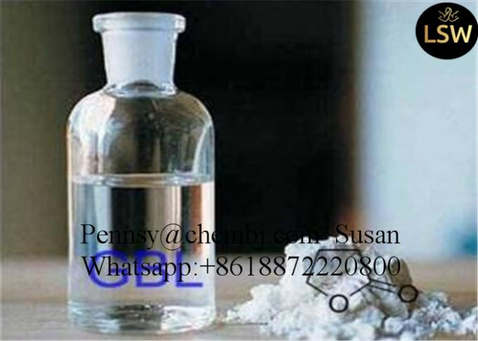 CAS 96-48-0 Legal Bodybuliding Steroids Colourless Oily Liquid Gamma Butyrolactone Safe Solvent GBL