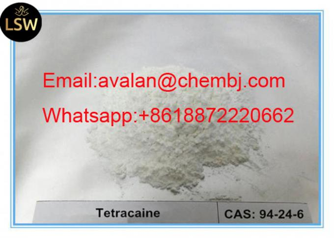 White Raw Material Powder Local Anaesthesia Drugs Pain Reliever Tetracaine/INN CAS 94-24-6