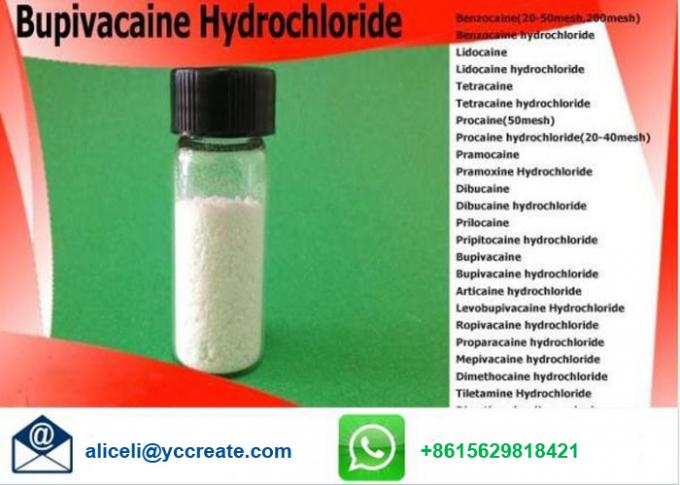 CAS 14252 80 3 Local Anesthetic Powder Bupivacaine Hydrochloride Bupivacaine HCl Pain Killer
