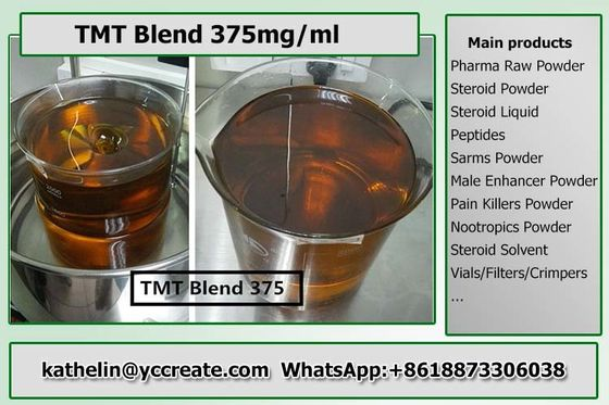China Compound Bodybuilding Anabolic Steroids Semi Finished Liquid TMT Blend 375 supplier