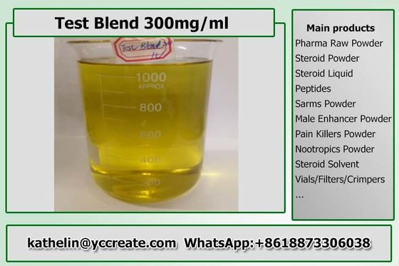 China Yellow Muscle Building Steroid Oil Test Blend 300 Bulk Ready Liquid For Fitness supplier