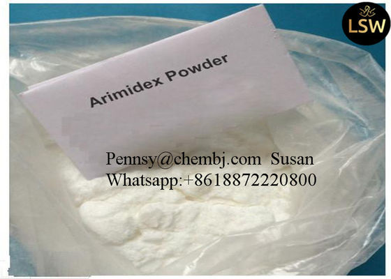 China Anastrozole / Arimidex Anti Estrogen Drugs Female Estrogen Hormone For Brest Cancer supplier