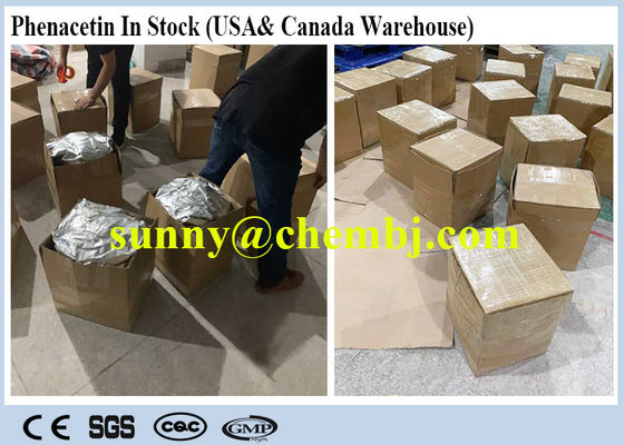 China Raw Powder CAS 62-44-2 Local Anaesthesia Drugs Phenacetin For Fever - Reducing Drug supplier