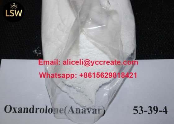 China High Purity White Raw Powder Oral Anabolic Steroids Oxandrolone Anavar CAS 53 39 4 for Bodybuilding supplier