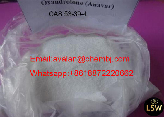 China Large Muscle Mass Gaining Steroids Oxandrolone Anavar CAS 53 39 4 White Crystalline Powder supplier