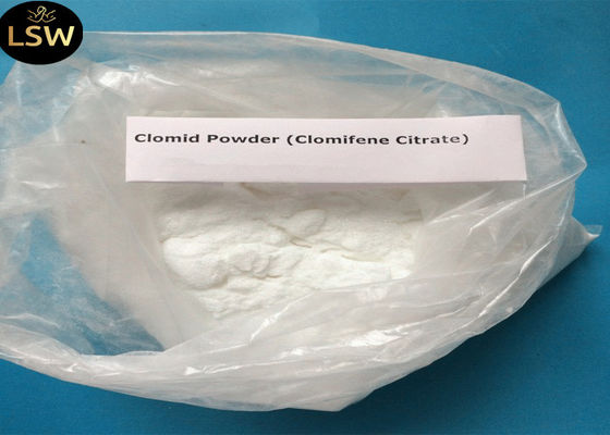 99% Purity Natural Anti Estrogen Supplements Clomifene Citrate / Clomid CAS 50-41-9
