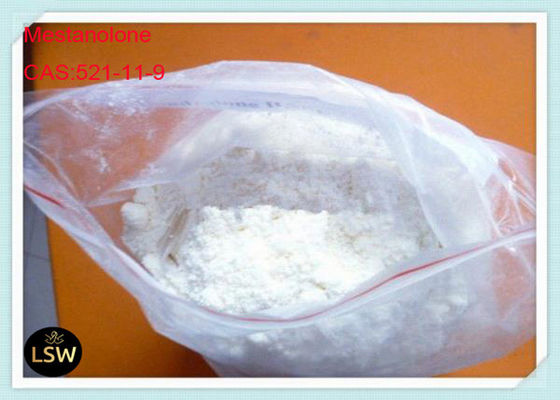 99% Purity White Crystalline Cutting Cycle Steroids Powder Mestanolone CAS 521-11-9 For Bodybuilding