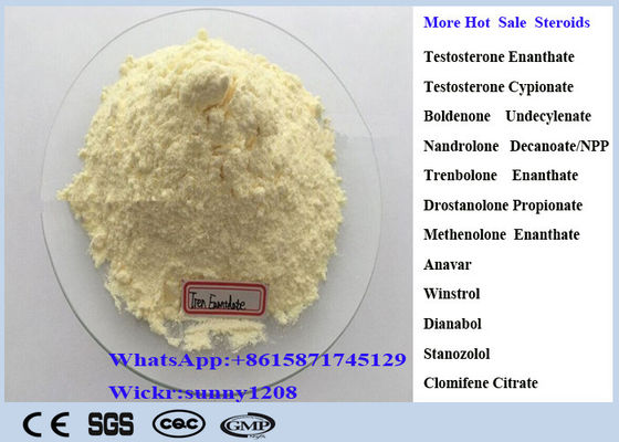 Light Yellow Trenbolone Enanthate Powder Cutting Cycle Steroid CAS 472-61-546 Parabola For Lean Muscle Mass