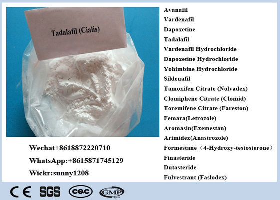 99% Purity Tadalafil Sex Enhancing Drugs Powder CAS 385769-84-6 Cialis