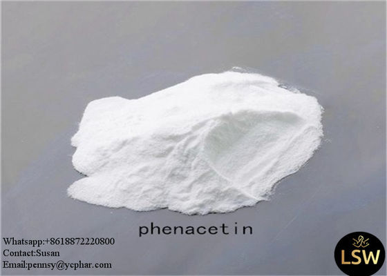 White Flash Scaly Crystalline Powder Phenacetin Anti Inflammatory Pain Relieving Drugs CAS 62-44-2