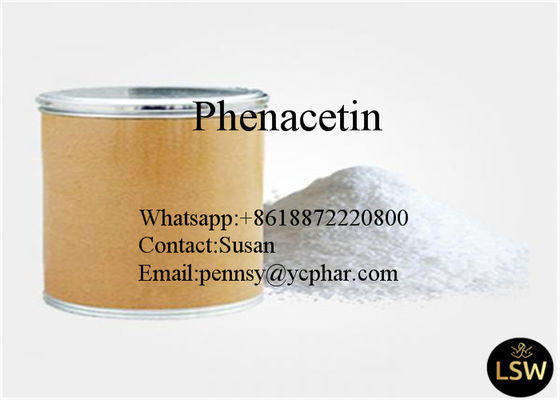 C10H13NO2 Phenacetin CAS 62-44-2 Chemical Material Antipyretic Analgesic BP Grade