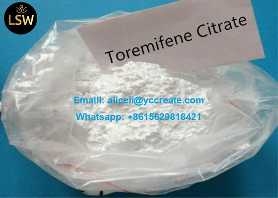 CAS 89778 27 8 Anti Estrogen Steroid Hormones White Raw Powder Toremifene Citrate Fareston